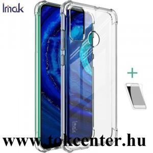 Huawei P Smart (2020) IMAK szilikon telefonvédő (közepesen ütésálló, légpárnás sarok + képernyővédő fólia) ÁTLÁTSZÓ