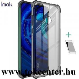 Huawei P Smart (2020) IMAK szilikon telefonvédő (közepesen ütésálló, légpárnás sarok + képernyővédő fólia) FÜSTSZÍNŰ
