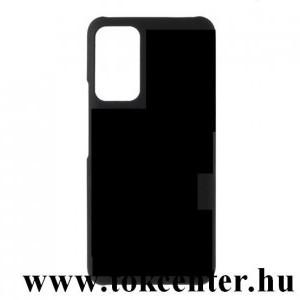 Honor X10 5G Műanyag telefonvédő (gumírozott) FEKETE