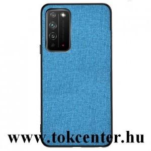 Honor X10 5G Műanyag telefonvédő (közepesen ütésálló, szilikon keret, textil hátlap) VILÁGOSKÉK