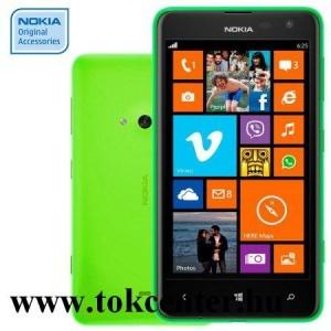 Nokia Lumia 625 gyári műanyag telefon tok, shell, cc-3071, zöld
