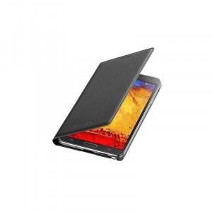 Samsung Galaxy Note 3 SM-N900 gyári flip cover tok, akkufedél, oldalra nyíló, kártyatartó, fekete, EF-WN900BBEG