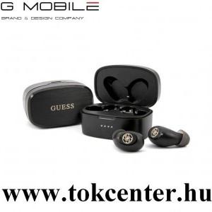 GUESS BLUETOOTH fülhallgató SZTEREO (v5.0, TWS, mikrofon, vízálló, zenehallgatáshoz ajánlott + töltőtok) FEKETE (GUTWSJL4GBK)