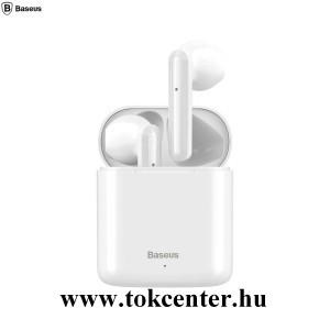 BASEUS ENCOK bluetooth SZTEREO fülhallgató (v5.0, TWS, mikrofon, zajszűrő, zenehallgatáshoz ajánlott + töltőtok) FEHÉR (NGW09-02)