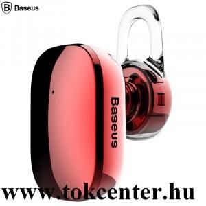 BASEUS ENCOK MINI BLUETOOTH fülhallgató MONO (v4.2, mikrofon, multipoint, mini) PIROS (NGA02-09)