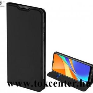 Nokia 3.4 DUX DUCIS SKIN PRO tok álló, bőr hatású (FLIP, oldalra nyíló, bankkártya tartó, asztali tartó funkció) FEKETE