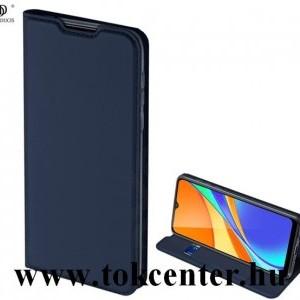 Nokia 3.4 DUX DUCIS SKIN PRO tok álló, bőr hatású (FLIP, oldalra nyíló, bankkártya tartó, asztali tartó funkció) SÖTÉTKÉK