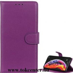 Nokia 3.4 Tok álló, bőr hatású (FLIP, oldalra nyíló, asztali tartó funkció) LILA