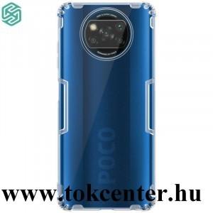 Xiaomi Poco X3 NFC NILLKIN NATURE szilikon telefonvédő (közepesen ütésálló, légpárnás sarok, 0.6 mm, ultravékony) ÁTLÁTSZÓ