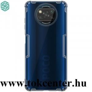 Xiaomi Poco X3 NFC NILLKIN NATURE szilikon telefonvédő (közepesen ütésálló, légpárnás sarok, 0.6 mm, ultravékony) SZÜRKE