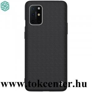 OnePlus 8T NILLKIN TEXTURED műanyag telefonvédő (közepesen ütésálló, szilikon keret, 3D minta) FEKETE