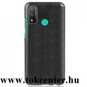 Huawei P Smart (2020) Műanyag telefonvédő (bőr hatású) FEKETE