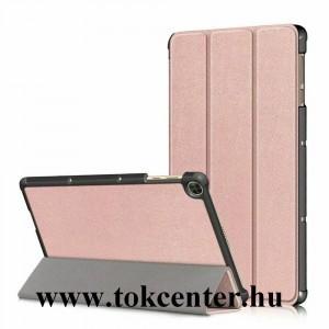 Huawei MatePad T10s WIFI (AGS3-W09) Tok álló, bőr hatású (aktív flip, oldalra nyíló, TRIFOLD asztali tartó funkció) ROZÉARANY