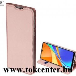 Samsung Galaxy S20 FE (SM-G780) DUX DUCIS SKIN PRO tok álló, bőr hatású (FLIP, oldalra nyíló, bankkártya tartó, asztali tartó funkció) ROZÉARANY