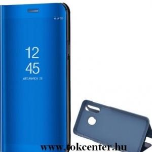 Samsung Galaxy S20 FE (SM-G780) Tok álló (aktív flip, oldalra nyíló, asztali tartó funkció, tükrös felület, Mirror View Case) KÉK