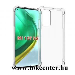 Xiaomi Mi 10T 5G / Xiaomi Mi 10T Pro 5G Szilikon telefonvédő (közepesen ütésálló, légpárnás sarok) ÁTLÁTSZÓ