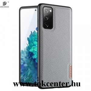 Samsung Galaxy S20 FE (SM-G780) DUX DUCIS FINO szilikon telefonvédő (műanyag belső, közepesen ütésálló, rombusz minta) SÖTÉTKÉK