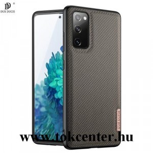 Samsung Galaxy S20 FE (SM-G780) DUX DUCIS FINO szilikon telefonvédő (műanyag belső, közepesen ütésálló, rombusz minta) SÖTÉTZÖLD