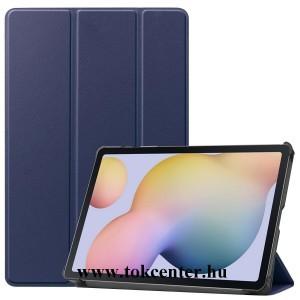 Samsung Galaxy Tab A7 10.4 (2020) LTE SM-T505 /Tab A7 10.4 (2020) WIFI SM-T500 Tok álló, bőr hatású (aktív flip, oldalra nyíló, TRIFOLD asztali tartó funkció) SÖTÉTKÉK