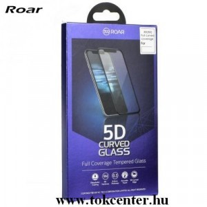 LG K42 (LM-K420HM) / LG K52 / LG K62 ROAR képernyővédő üveg (5D full glue, íves, teljes felületén tapad, karcálló, 0.3 mm, 9H) FEKETE