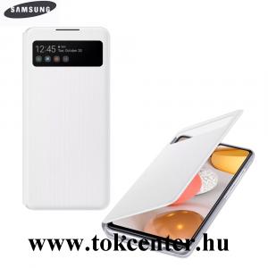 Samsung Galaxy A42 5G (SM-A425F) Gyári Tok álló (aktív flip, oldalra nyíló, hívószámkijelzés, Smart View Cover) FEHÉR (EF-EA426PWEGEE)
