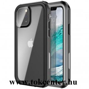 Apple iPhone 12 / Apple iPhone 12 Pro Vízhatlan / vízálló tok, AQUA (3 méterig, IP67, közepesen ütésálló, légpárnás sarok) FEKETE