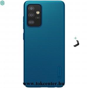 Samsung Galaxy A52 5G (SM-A526F) NILLKIN SUPER FROSTED műanyag telefonvédő (gumírozott, érdes felület + asztali tartó) SÖTÉTKÉK