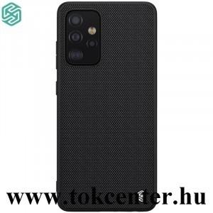Samsung Galaxy A52 5G (SM-A526F) NILLKIN TEXTURED műanyag telefonvédő (közepesen ütésálló, szilikon keret, 3D minta) FEKETE