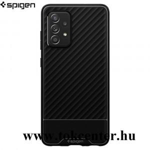Samsung Galaxy A52 4G (SM-A525F) / Samsung Galaxy A52 5G (SM-A526F) SPIGEN CORE ARMOR szilikon telefonvédő (közepesen ütésálló, 3D minta) FEKETE (ACS02321)