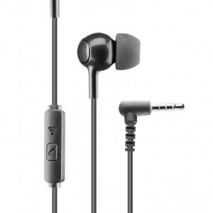 CELLULARLINE IN EAR fülhallgató SZTEREO (3.5mm jack, mikrofon, felvevő gomb) FEKETE