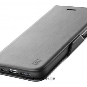 Samsung Galaxy S21 Plus (SM-G996) 5G CELLULARLINE BOOK CLUTCH tok álló, bőr hatású (FLIP, oldalra nyíló, bankkártyatartó funkció) FEKETE
