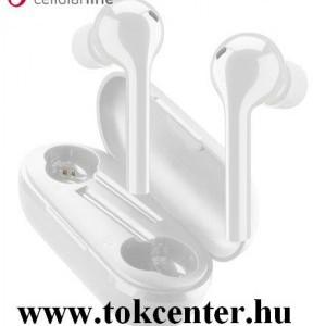 CELLULARLINE FLAG bluetooth fülhallgató SZTEREO (v5.0, TWS, mikrofon, aktív zajszűrő + töltőtok) FEHÉR