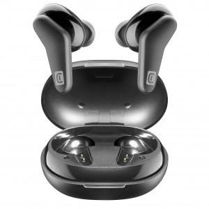 CELLULARLINE HARK BLUETOOTH fülhallgató SZTEREO (v5.0, TWS, mini, mikrofon, aktív zajszűrő + töltőtok) FEKETE