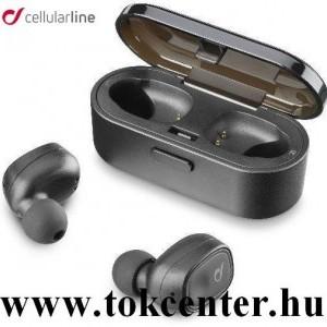 CELLULARLINE SHADOW BLUETOOTH fülhallgató SZTEREO (v5.0, TWS, ultrakönnyű, mikrofon, aktív zajszűrő + töltőtok) FEKETE