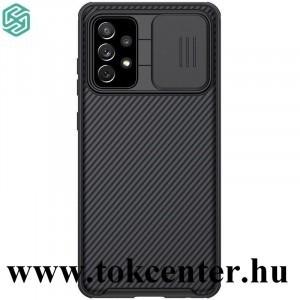 Samsung Galaxy A52 4G (SM-A525F) / Galaxy A52 5G (SM-A526F) NILLKIN CAMSHIELD PRO műanyag telefonvédő (szilikon keret, közepesen ütésálló, kamera védelem, csíkos minta) FEKETE