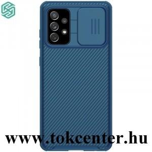 Samsung Galaxy A52 4G (SM-A525F) / Galaxy A52 5G (SM-A526F) NILLKIN CAMSHIELD PRO műanyag telefonvédő (szilikon keret, közepesen ütésálló, kamera védelem, csíkos minta) SÖTÉTKÉK
