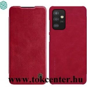 Samsung Galaxy A52 4G (SM-A525F) / Galaxy A52 5G (SM-A526F) NILLKIN QIN tok álló, bőr hatású (FLIP, oldalra nyíló, bankkártya tartó) PIROS