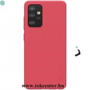 Samsung Galaxy A52 4G (SM-A525F) / Galaxy A52 5G (SM-A526F) NILLKIN SUPER FROSTED műanyag telefonvédő (gumírozott, érdes felület + asztali tartó) PIROS