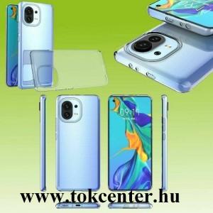 Xiaomi Mi 11 Lite Szilikon telefonvédő (ultravékony) ÁTLÁTSZÓ