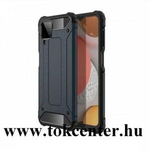 Samsung Galaxy A42 5G (SM-A425F) Defender műanyag telefonvédő (közepesen ütésálló, légpárnás sarok, szilikon belső, fémhatás) SÖTÉTKÉK