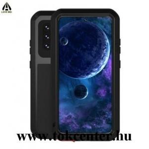 Samsung Galaxy A52 4G (SM-A525F) / Galaxy A52 5G (SM-A526F LOVE MEI Defender telefonvédő gumi (ütésálló, fém keret) FEKETE