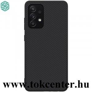 Samsung Galaxy A52 4G (SM-A525F) / Galaxy A52 5G (SM-A526F) NILLKIN SYNTHETIC FIBER műanyag telefonvédő (környezetbarát, karbon minta) FEKETE