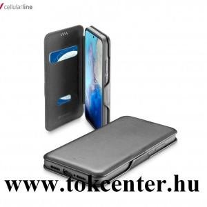 Xiaomi Redmi Note 9 Pro / Xiaomi Redmi Note 9S CELLULARLINE BOOK CLUTCH tok álló, bőr hatású (FLIP, oldalra nyíló, bankkártyatartó funkció) FEKETE