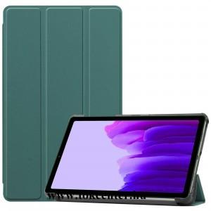 Samsung Galaxy Tab A7 Lite LTE (SM-T225) / Galaxy Tab A7 Lite WIFI (SM-T220) Tok álló, bőr hatású (aktív flip, oldalra nyíló, TRIFOLD asztali tartó funkció) ZÖLD