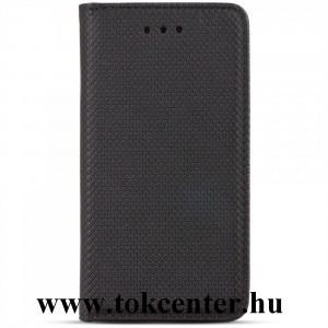 Samsung Galaxy S21 FE (SM-G990) Tok álló, bőr hatású (FLIP, oldalra nyíló, asztali tartó funkció, rombusz minta) FEKETE