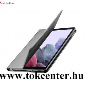 Samsung Galaxy Tab A7 Lite LTE (SM-T225) CELLULARLINE FOLIO tok álló, bőr hatású (FLIP, oldalra nyíló, asztali tartó funkció, selyem minta) FEKETE