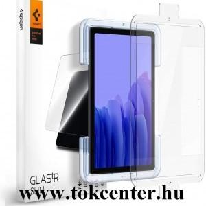 Samsung Galaxy Tab A7 10.4 (2020) LTE SM-T505 / Tab A7 10.4 (2020) WIFI SM-T500 SPIGEN EZ FIT HD képernyővédő üveg 2 db (2.5D full cover, tokbarát, ultravékony, 0.2mm, 9H + segédkeret) ÁTLÁTSZÓ (AGL02031)